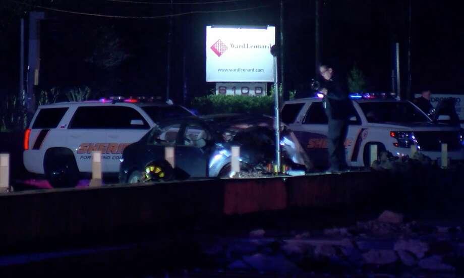 Fort Bend County sheriff's deputies investigate a fatal crash on FM 2234 near Hiram Clarke Road on Thursday, Feb. 6, 2020. Photo: OnScene.TV