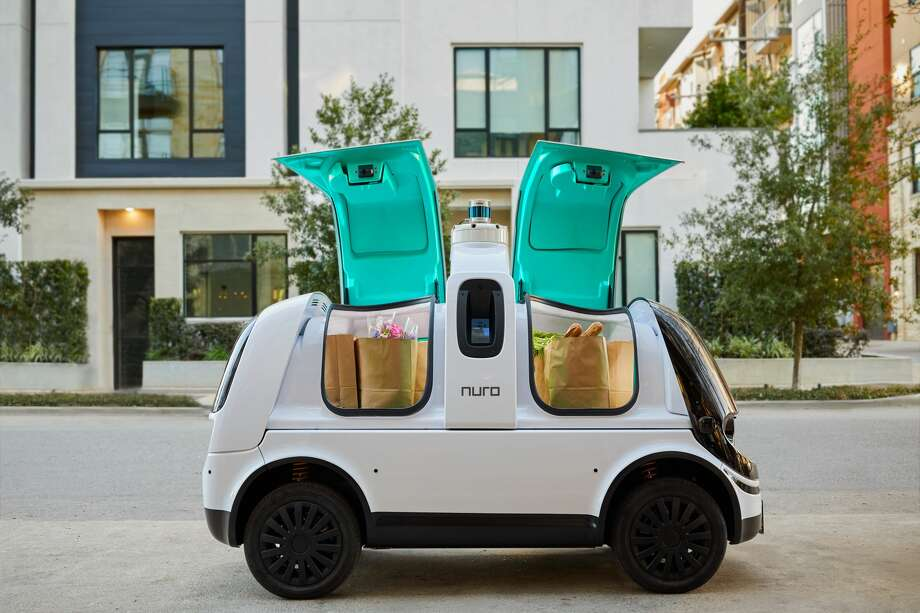 Nuro, a San Francisco technology company, is planning to deploy its next generation autonomous delivery vehicles in Houston after after receiving federal approval. Photo: Courtesy Nuro / Nathan Lindstrom