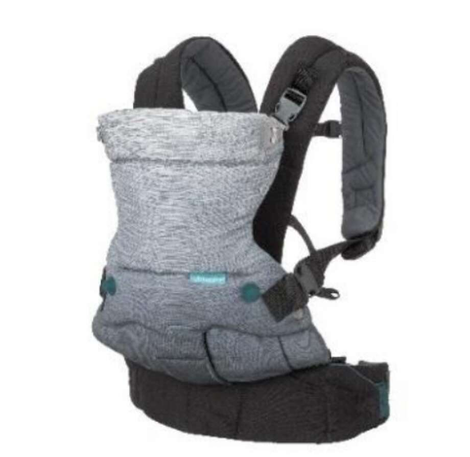 Infantino is recalling about 14,000 baby carriers because buckles on the carriers can break, causing the child to fall out. Photo: U.S. Consumer Product Safety Commission