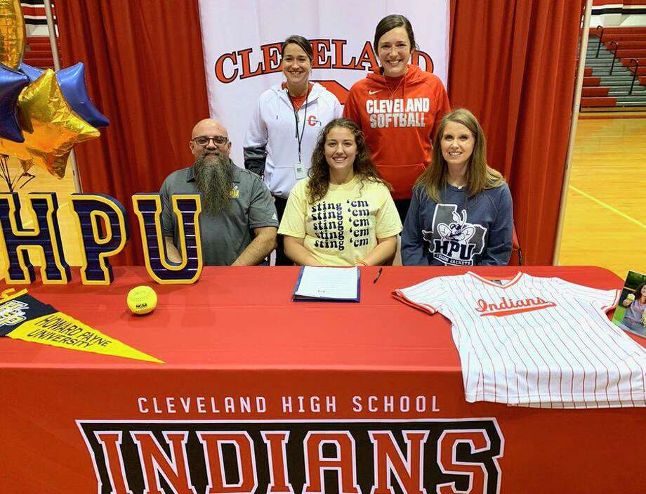 Cleveland's Bella Buckley signed to play softball at Howard Payne University on National Signing Day on Feb. 5 Photo: Contributed Photo