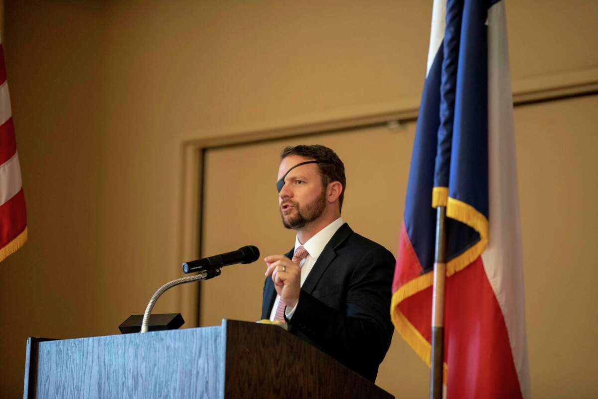 U.S. Rep. Dan Crenshaw TX-2 had a meet and greet then gave a speech at the Odessa Country Club on Thursday, May 30, 2019 for the Ector County Republican Women and members of the public who bought tickets. Jacy Lewis/191 News