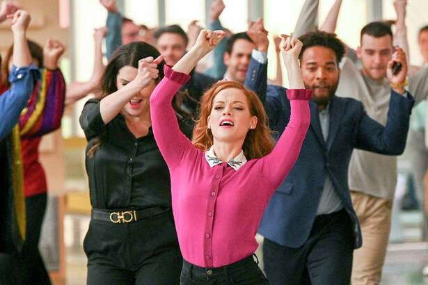 """Skylar Astin, from left, as Max, Lauren Graham as Joan, Jane Levy as Zoey and John Clarence Stewart as Simon star in NBC's new series """"Zoey's Extraordinary Playlist."""""""