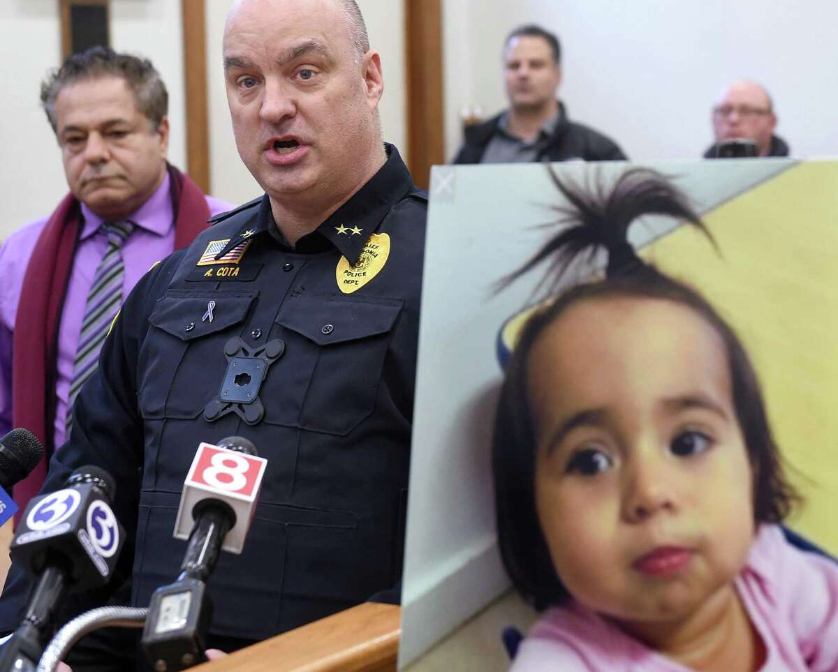 Ansonia Police Chief Andrew Cota, III, and Ansonia Mayor David Cassetti discuss the ongoing search for Vanessa Morales, the tiny toddler missing since Nov. 29, 2019.