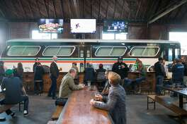 The interior of The Line 51 Brewery and Tasting Room, The Terminal, near Jack London Square, during their soft opening in Oakland, Calif. on Feb. 6, 2020.