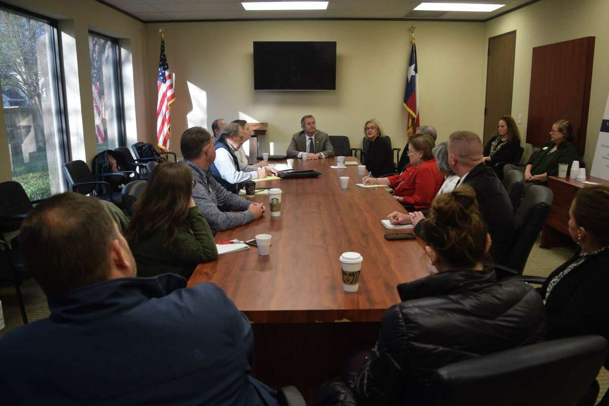 Tom Oliverson, Texas House representatives for District 130, spoke about healthcare and Texas legislation during the the transportation and government committee meeting at the Cy-Fair Houston of Chamber office on Feb. 6.