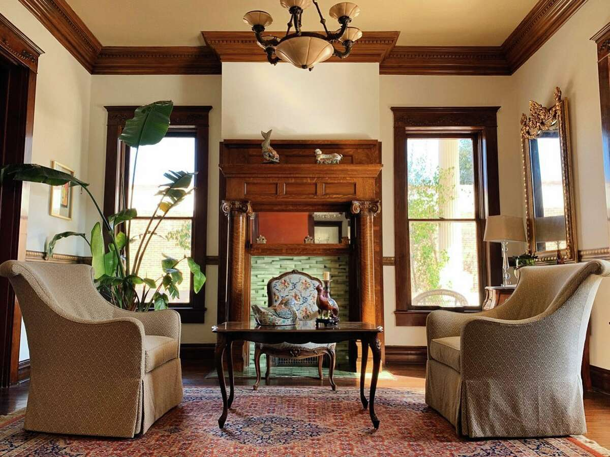 Boutique hotel Laredo Mansion is a revamped 1914 house that now operates as a bed and breakfast.