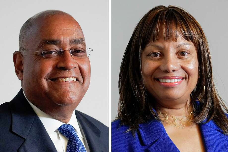Rodney Ellis, left, and Maria T. Jackson are running in the Democratic Party primary for Harris County Precinct 1 commissioner. Photo: Jill Karnicki, Staff Photographer / Houston Chronicle / Houston Chronicle