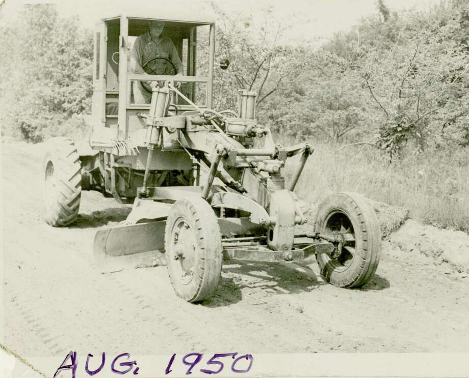 The Gunn Historical Museum's Washington History Club at Night will meet in the Wykeham Room of the Gunn Library on Tuesd at 6:30 p.m. Feb. 18. Above, Carl Yaunsem drives the town grader in August 1950. He operated the grader for 40 years. Photo: Dotty Anderson / Contributed Photo /