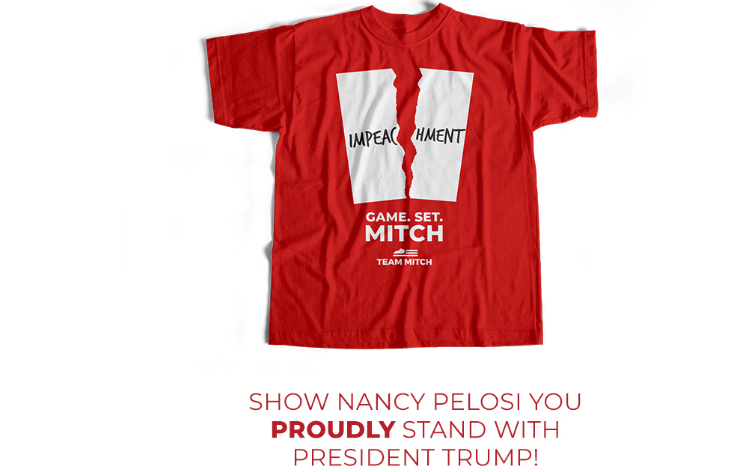 Mitch McConnell is selling Pelosi-inspired 'impeachment' t-shirts