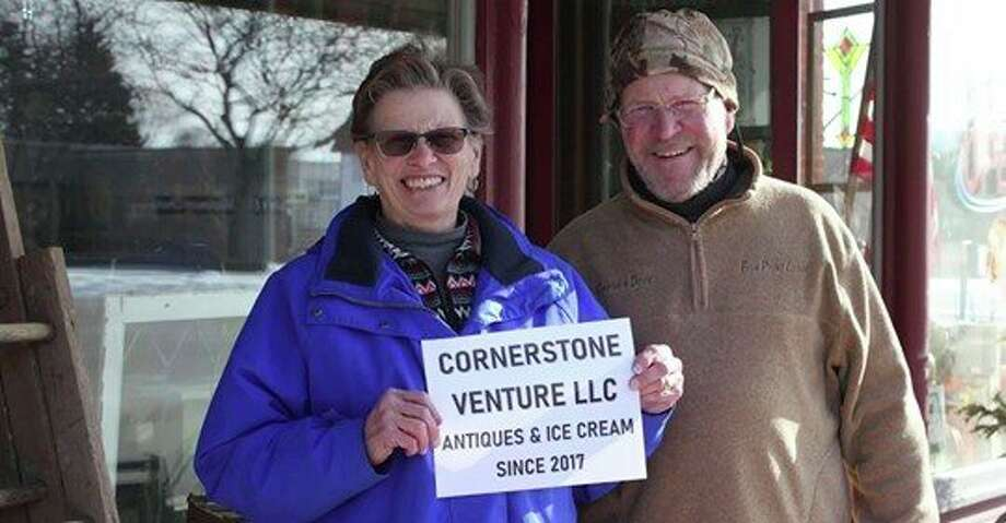 Chris and Doug Deming, who head up the Sebewaing Chamber of Commerce, are also featured in the HGTV video for the business they own, the Cornerstone Venture LLC. (Provided photo)