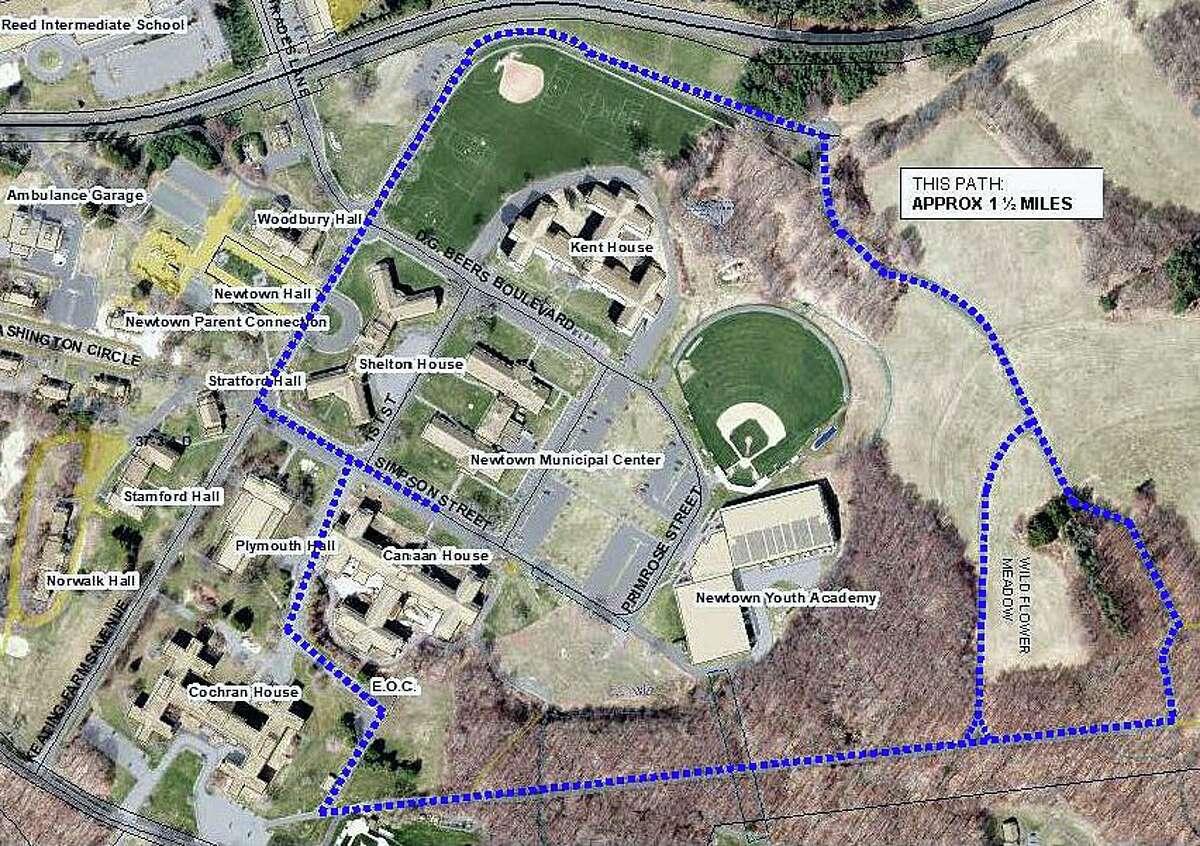 A 1.5-mile trail at Newtown's Fairfield Hills campus