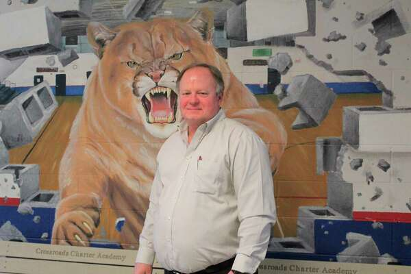Middle school/high school principal Ross Meads has spent almost 22 years teaching, coaching and improving the lives of Crossroads students. He has been with the district since it opened in 1998. (Pioneer photo/Catherine Sweeney)