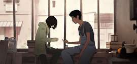 """This image released by Netflix shows a scene from the Oscar-nominated animated film, """"I Lost My Body.""""  (Netflix via AP)"""