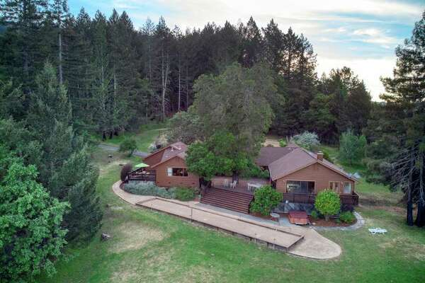 3460 Mount Veeder Road in Napa is a 21.7-acre estate in Napa with about two acres of fallow vineyard.