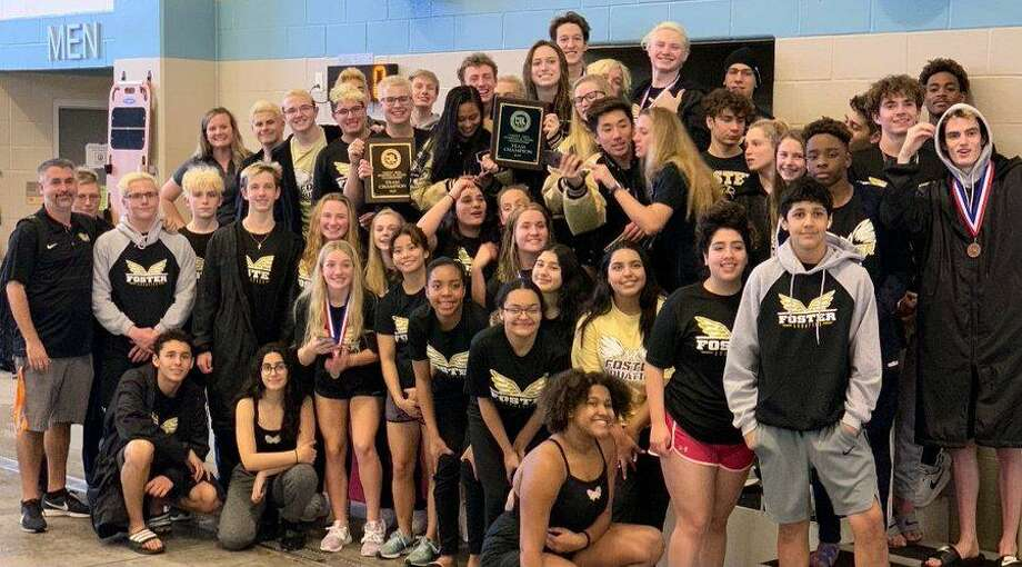 The Foster swimming and diving team won the girls Region VII-5A championship and qualified 15 events for the UIL state championships. Photo: Foster High School / Foster High School