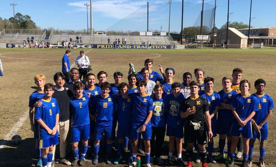 Monsignor Kelly Catholic Boys soccer after a 4-2 win over Austin St. Dominic Savio in Beaumont, Texas on Feb. 7, 2020. Photo: Monsignor Kelly Catholic Soccer / Special To The Enterprise / Monsignor Kelly Catholic Soccer / Special To The Enterprise