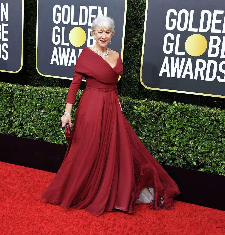 Helen Mirren arrives at the 77th Annual Golden Globe Awards