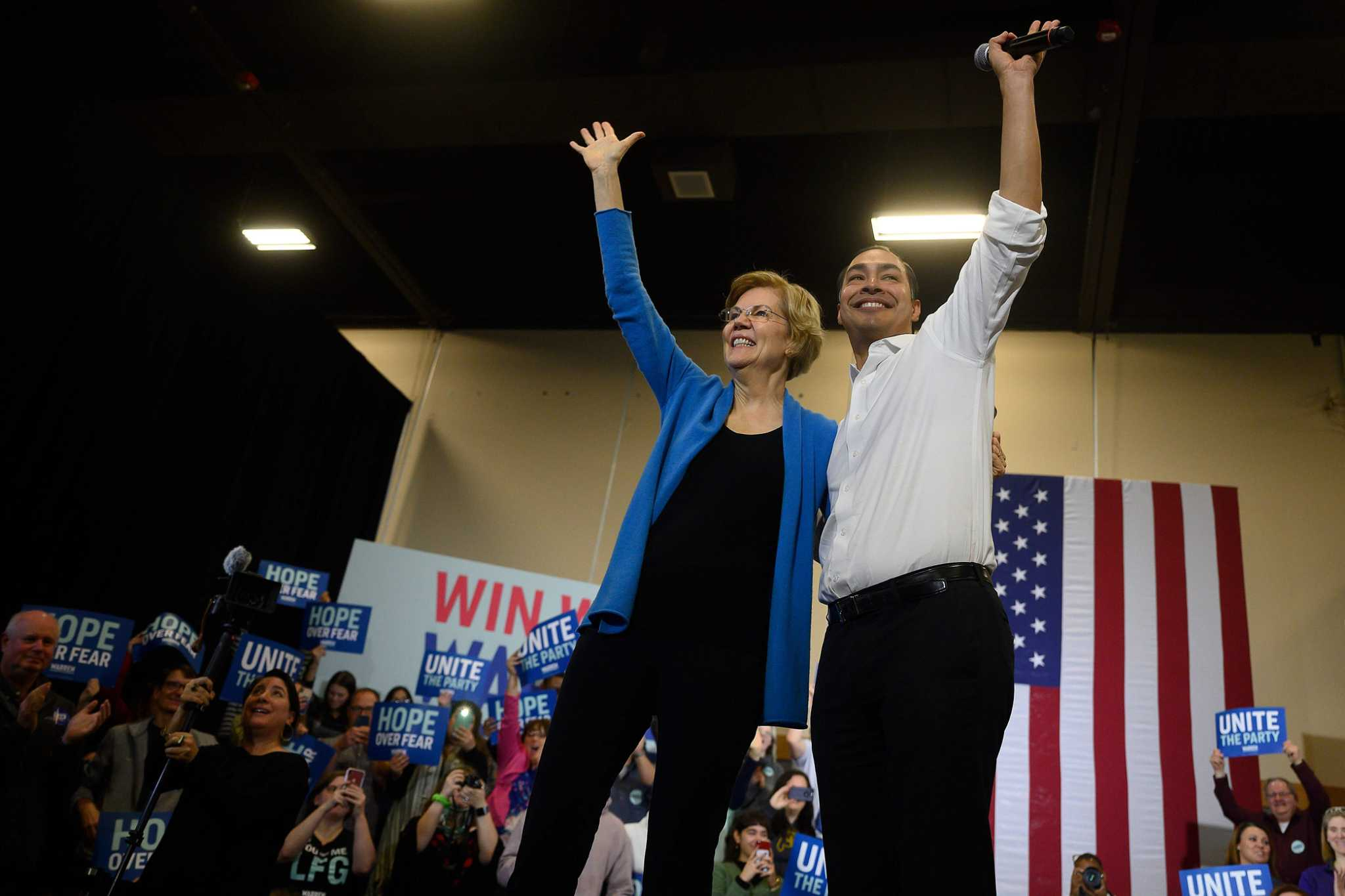 Julián Castro aggressively campaigning for Warren all over the country