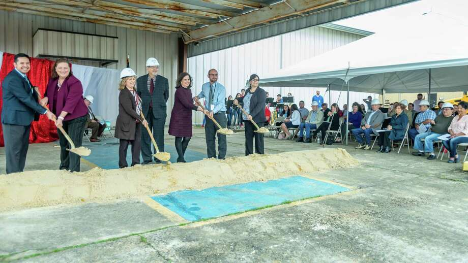 The Hughen Center Inc. and Bob Hope School held a groundbreaking ceremony for the start of construction for the new Bob Hope High School campus along Highway 73 in Port Arthur on February 4, 2020. Fran Ruchalski/The Enterprise Photo: Fran Ruchalski/The Enterprise / 2019 The Beaumont Enterprise