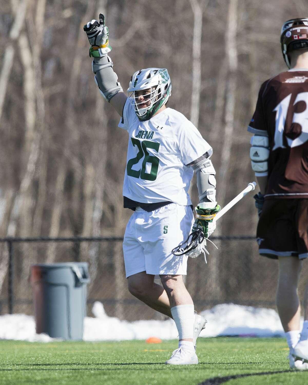 Niskayuna High graduate Dylan Pantalone of the Siena men's lacrosse team. (Courtesy of Siena College)