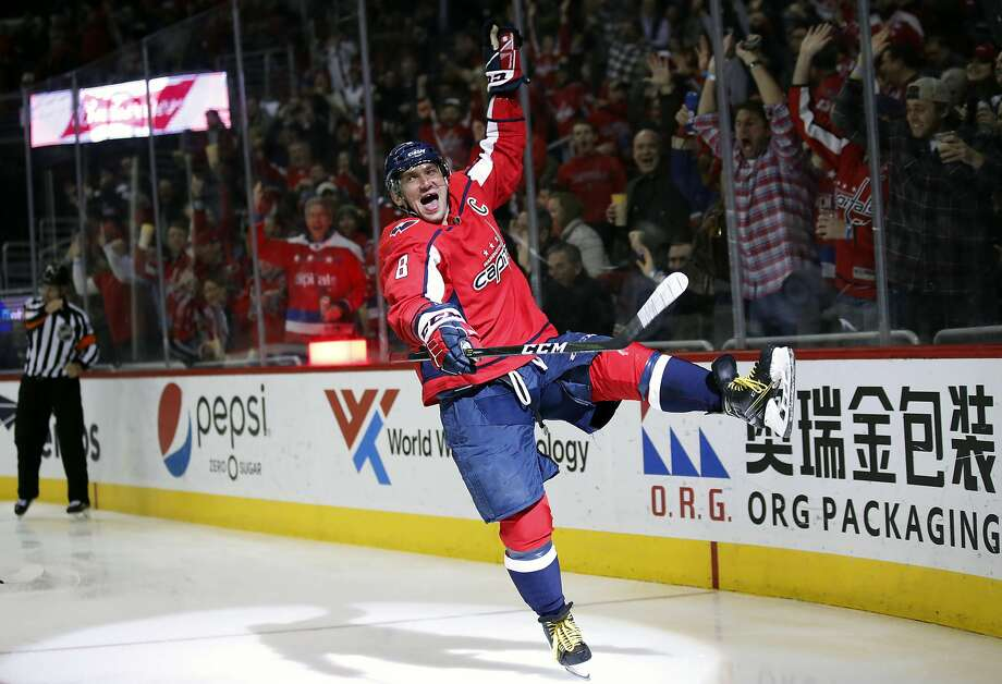 Capitals left wing Alex Ovechkin, still at the top of his game at age 34, is on the verge of becoming just the eighth NHL player to reach 700 career goals. Photo: Alex Brandon / Associated Press