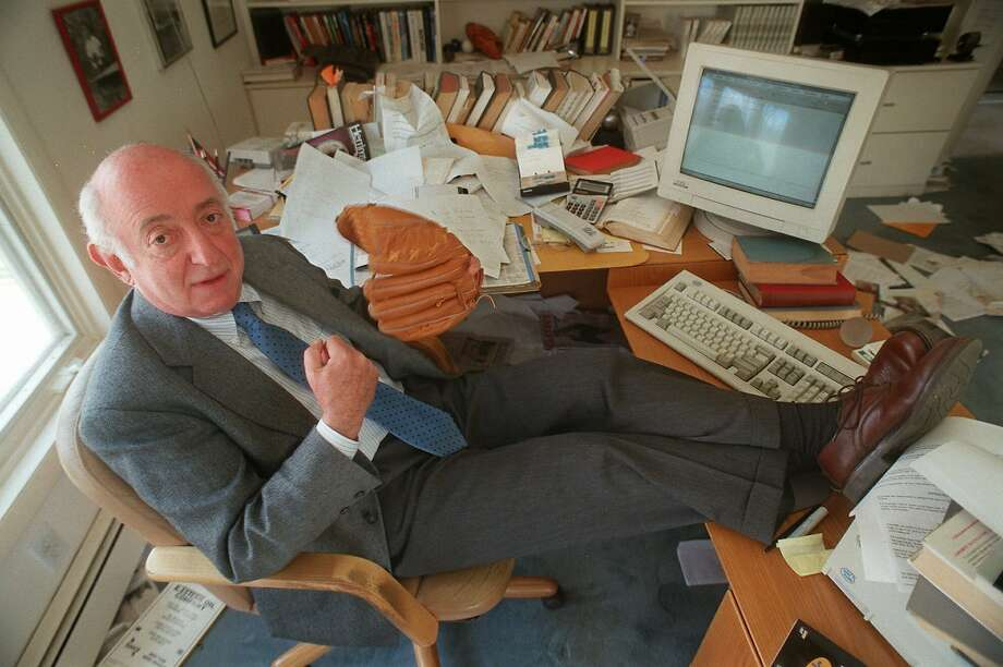 """Roger Kahn, author of the best-seller """"The Boys of Summer,"""" is shown in his home office in 1997. Photo: Todd Plitt / Associated Press 1997"""