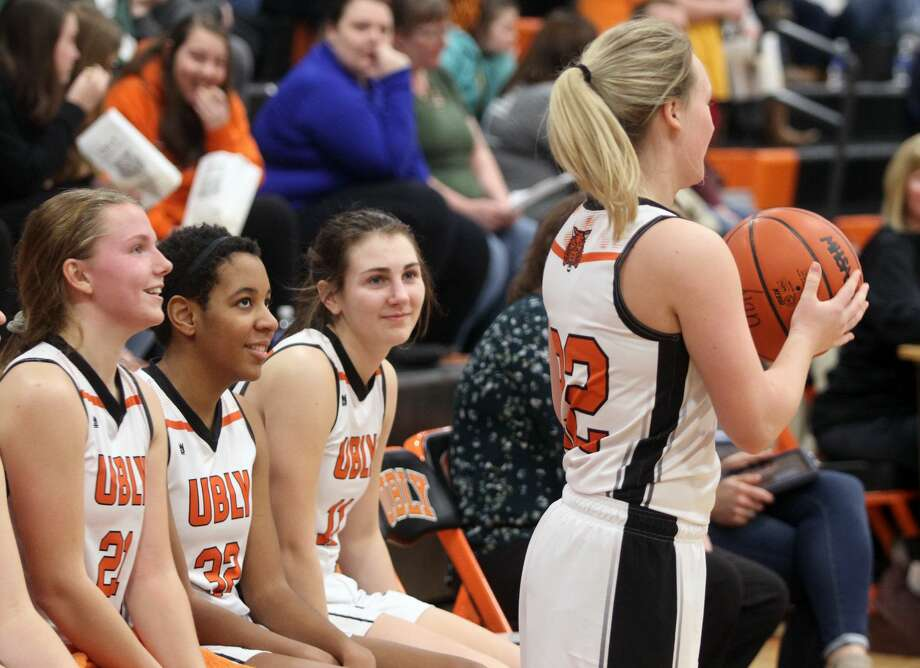 The Ubly girls basketball team picked up its 13th win of the season against Memphis on Friday, Feb. 7. Photo: Eric Rutter/Huron Daily Tribune