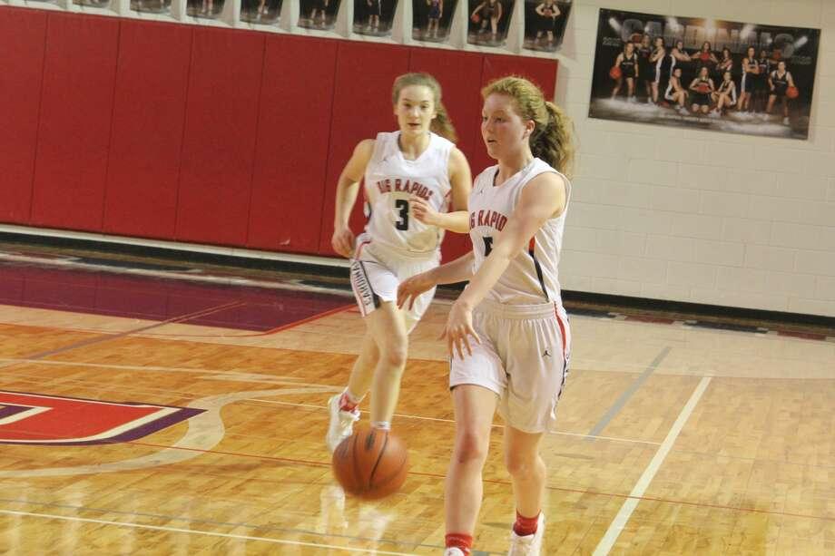 Big Rapids won its huge girls basketball showdown over Fremont on Friday 40-35 Photo: John Raffel