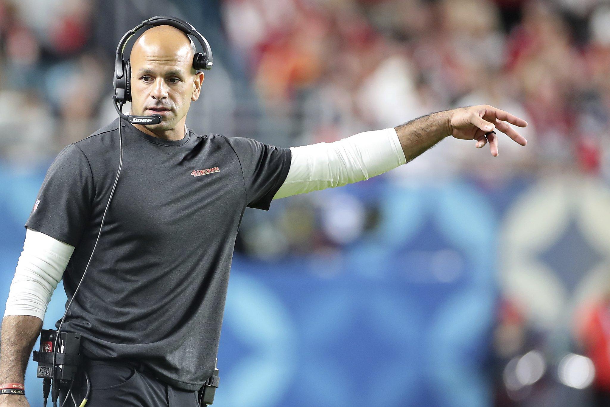 Report: 49ers' Robert Saleh declines Michigan State's interview request