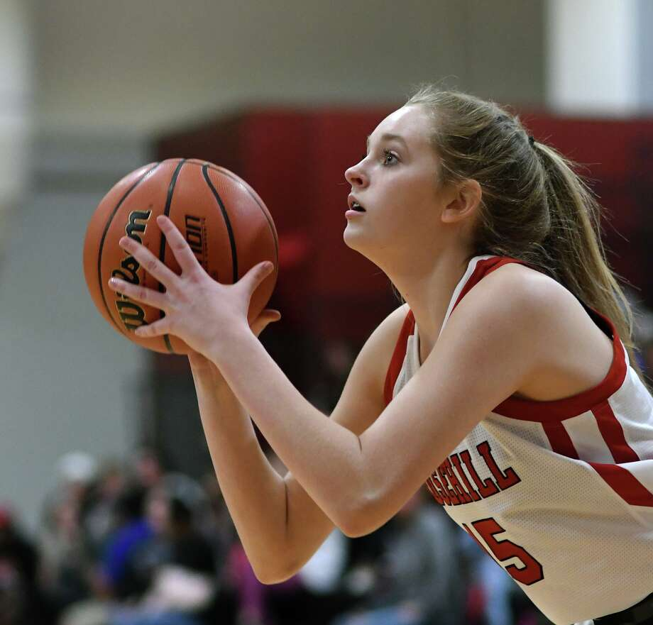 Rosehill sophomore post Audrey Smith works for a shot against Beaumont Legacy Christian during their district matchup at Rosehill Christian School on Jan. 31, 2020. Photo: Jerry Baker, Houston Chronicle / Contributor / Houston Chronicle