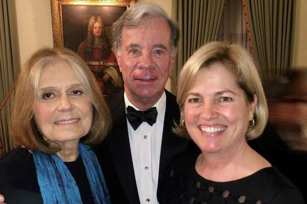 Journalist Gloria Steinem with Dr. Darrick Antell and his wife Dr. Lisa Antell at a dinner with the Medical Strollers at the Union Club in NYC last month.