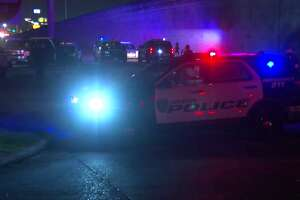 A hit-and-run driver killed a motorcyclist who was stopped at a red light Friday night in north Houston, authorities said.