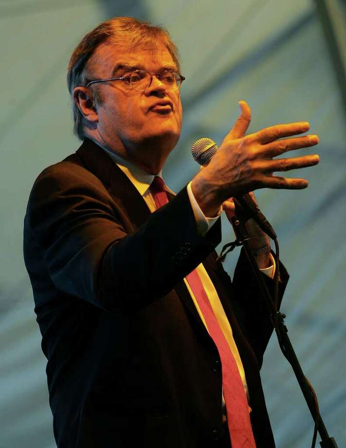 Garrison Keillor performs onstage during the Stagecoach Music Festival held at the Empire Polo Field on May 6, 2007 in Indio, California. Photo: Karl Walter, Getty Images / 2007 Getty Images