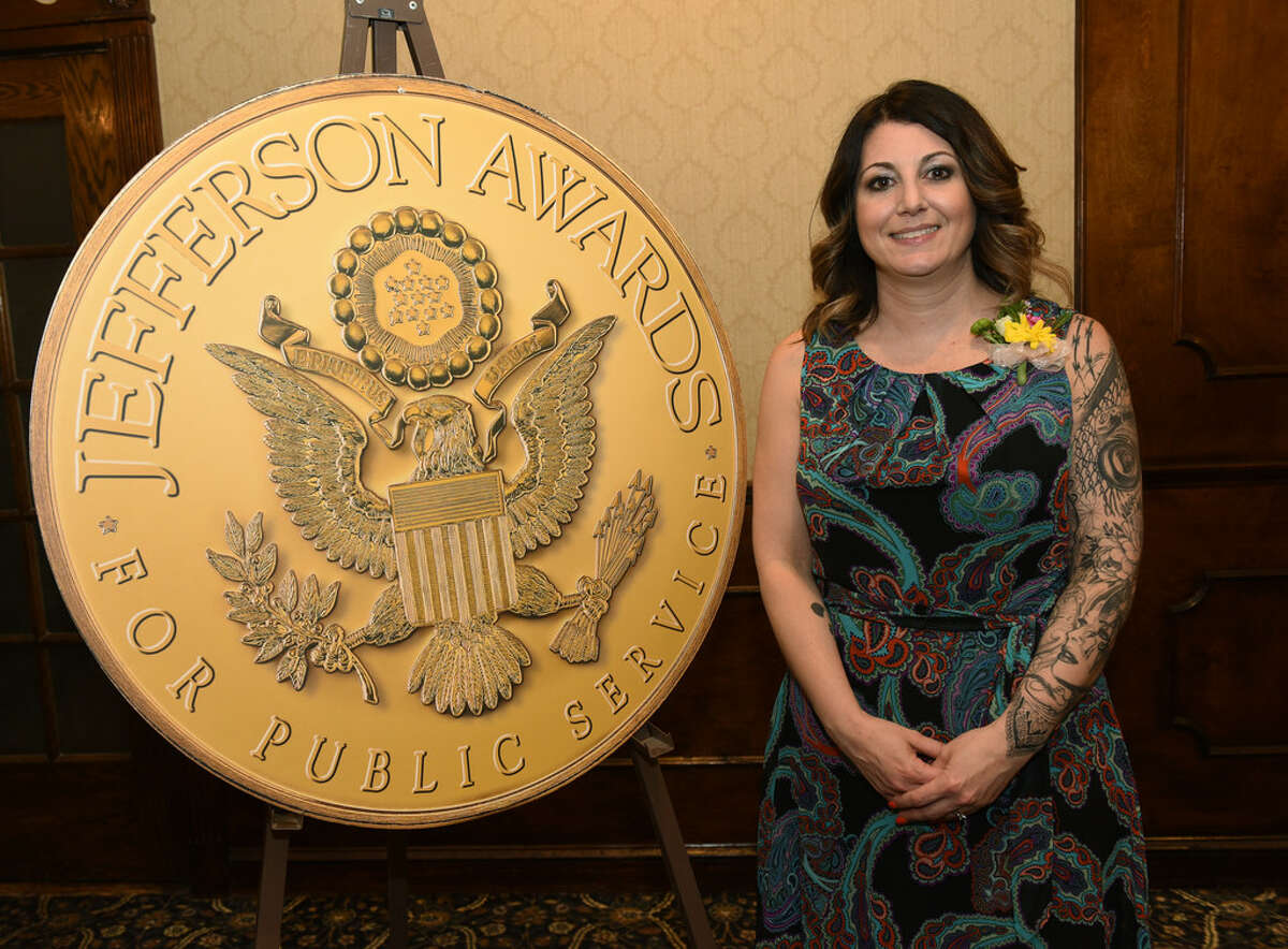 Renee Fahey poses for a photo during the annual Jefferson Awards event at the Century House on Monday, April 15, 2019 in Latham. (Lori Van Buren/Times Union)
