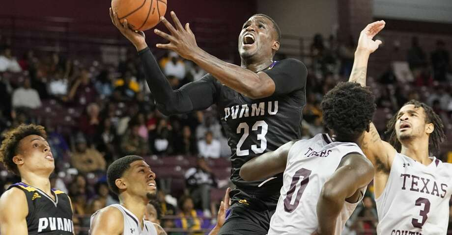 Prairie View A&M Devonte Patterson goes to the basket against Texas Southern University during second half of game at TSU Saturday, Jan. 11, 2020, in Houston. Photo: Melissa Phillip/Staff Photographer