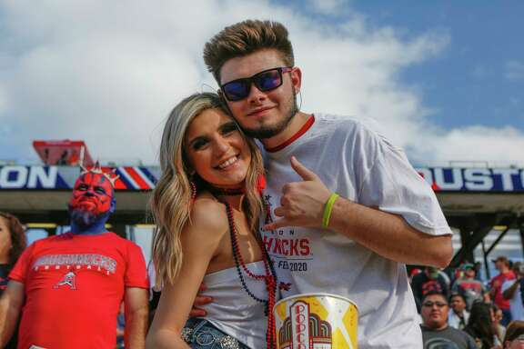 during the first quarter of an XFL football game at TDECU Stadium on Saturday, Feb. 8, 2020, in Houston.