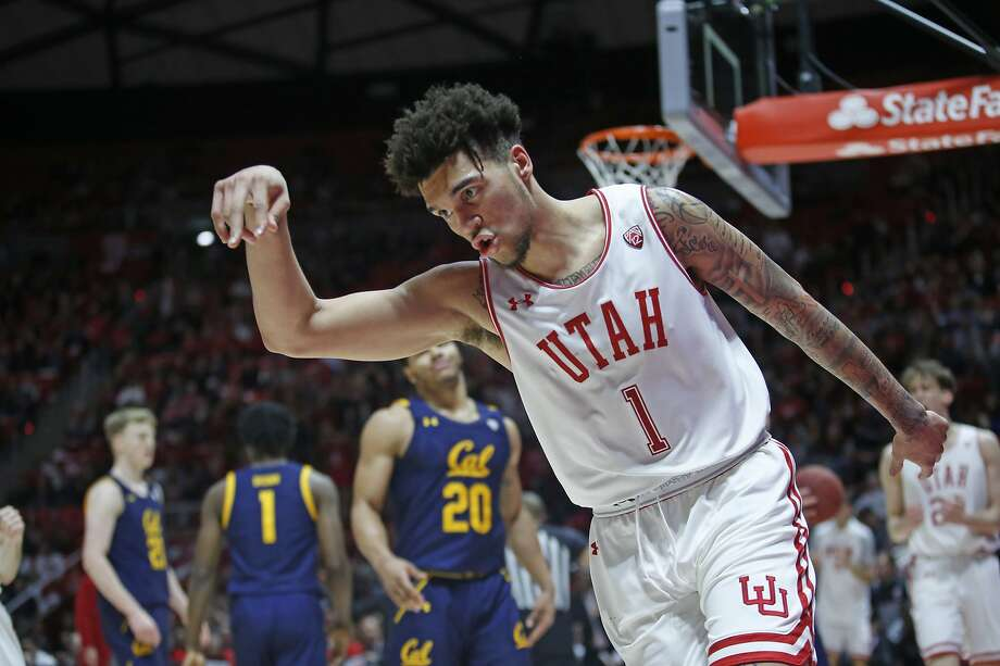 Utah forward Timmy Allen celebrates after scoring against Cal during the second half. Allen led all scorers with 21 points. Photo: Rick Bowmer / Associated Press