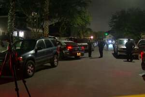 A man was shot multiple times and killed Sunday morning in southwest Houston and another man has been detained in connection to the shooting, police said.