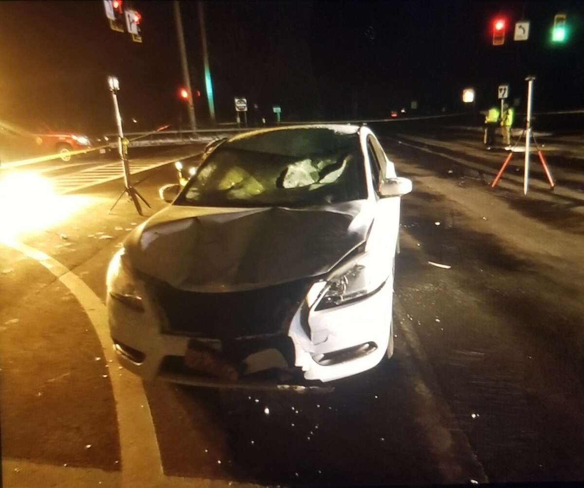 The Albany County Sheriff's Office release a photo of a car that allegedly hit four teenagers in Green Island Saturday night, killing one and critically injuring the other.