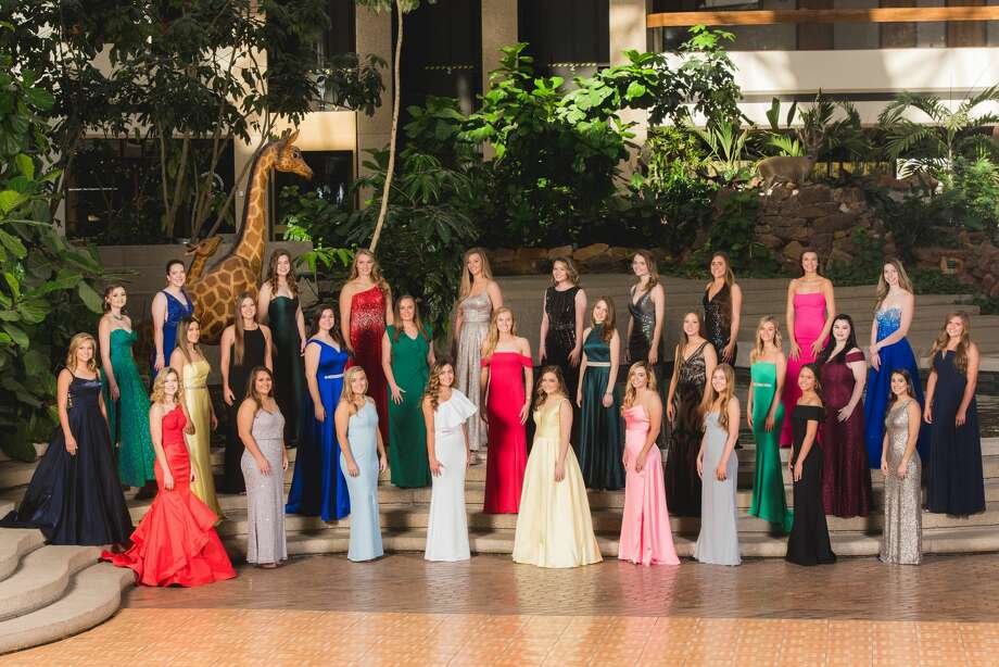 The senior Midland Symphony Belles were presented Friday at Midland Country Club. The senior belles are: Taylor Gibson, front row from left, Sarah Mata, Kaylee Standard, Lauren Low, Almale' Wheeless, Aspen Escamilla, Lauren Wilkins, Mia Wood and Lauren Jones; Kaleigh Boyt, middle row from left, McKenzie Gibson, Megan Spotts, Camille Downing, Hattie Jacoby, Hannah Ware, Brooke Payne, Caroline Downing, Jaycee Kidd, Rebecca Robinson and Jae Karson Brandon; and Bailey Phiffer, back row from left, Chloe Parker, Vivienne Dragun, Paige Low, Olivia Peters, Zoe Jackson, Karlie Smith, Grayson Price, Claire Clifton and Jenson Letcher. Not pictured is Elizabeth Smith. Photo: Courtesy Photo