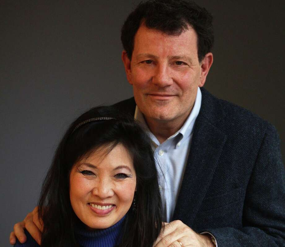 "Nicholas Kristof and Sheryl WuDunn wrote ""Tightrope: Americans Reaching for Hope"" in 2020. They will speak Tuesday at a breakfast event to benefit Greenwich-based Family Centers. Photo: Michael Lionstar /"