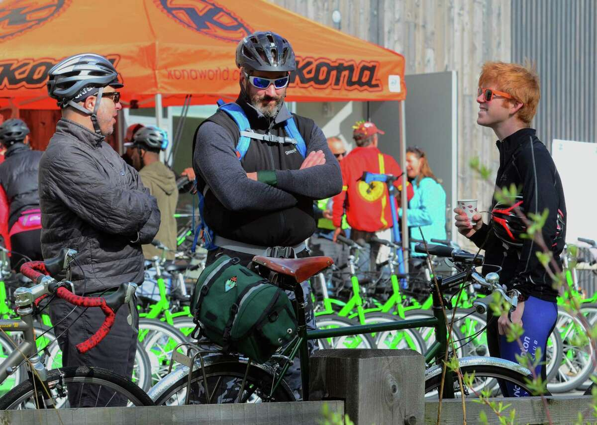The Rock to Rock Earth Day Ride starting at the Common Ground High School grounds in New Haven, Conn., on Saturday April 27, 2019. In 2018, 1,300 riders raised $227,000 for 34 local organizations -- a Rock to Rock record.