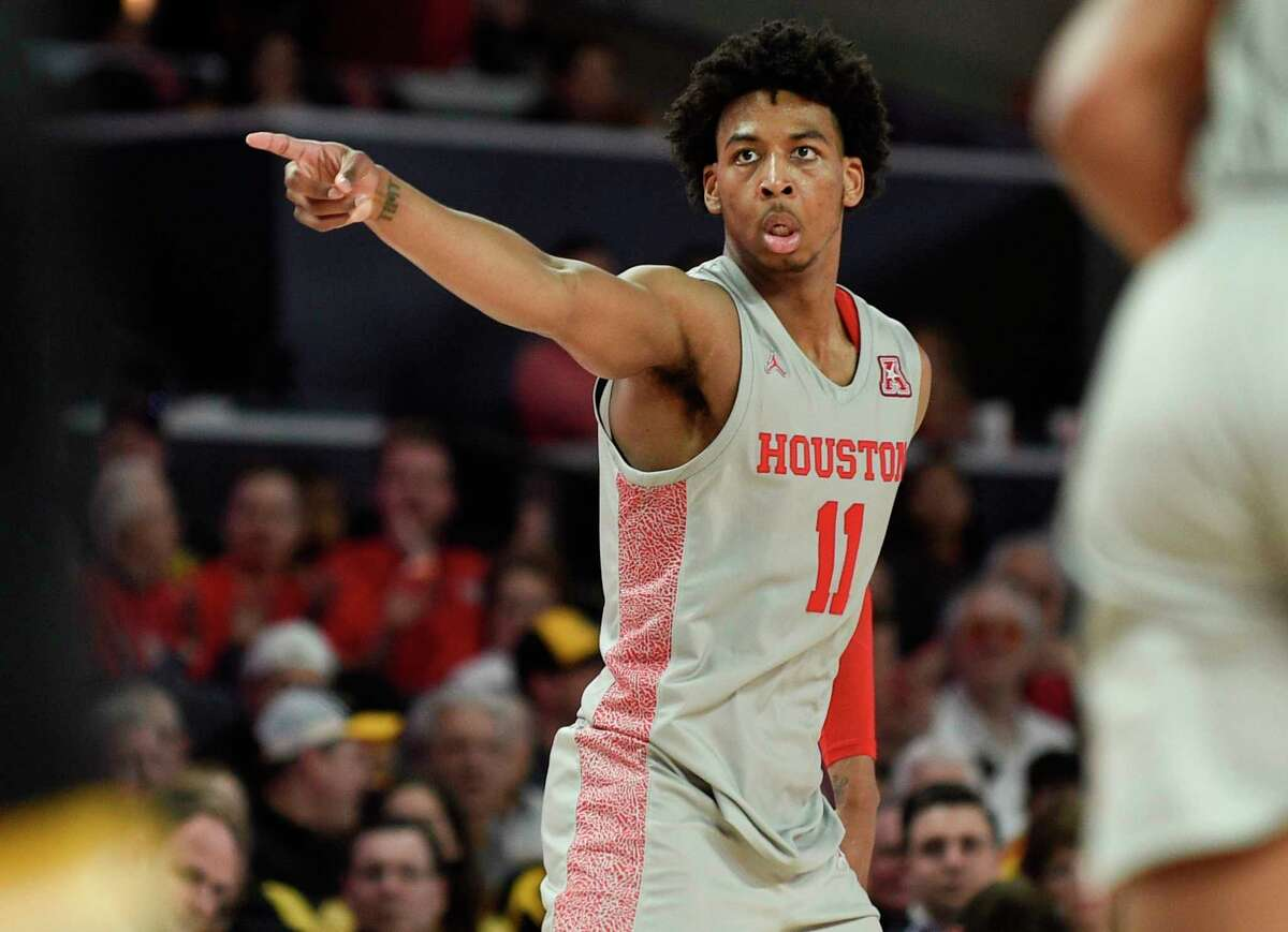 """When it comes to declaring for the NBA draft, UH's Nate Hinton said """"I want to go through the process and see what the NBA has to say."""" He has not hired an agent."""