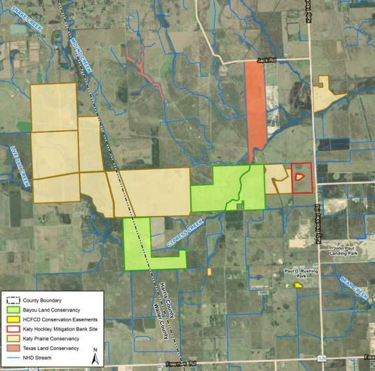 This map shows the location of the new wetlands mitigation project.