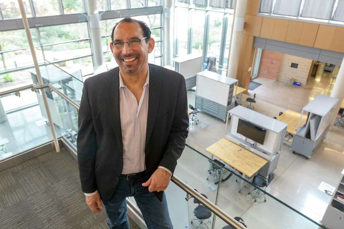 Luis Martinez, Director of the Trinity University Center for Innovation and Entrepreneurship, poses Tuesday, Feb. 4, 2020 in the university's Center for the Sciences and Innovation.