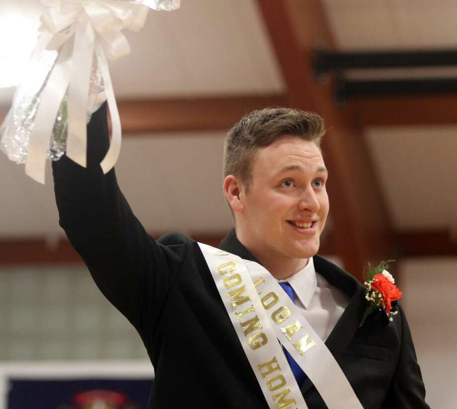 Ubly crowned its Coming Home King, Logan Hulburt, before the varsity boys basketball game on Friday, Feb. 7. Photo: Eric Rutter/Huron Daily Tribune