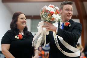 Ubly crowned its Coming Home King, Logan Hulburt, before the varsity boys basketball game on Friday, Feb. 7.