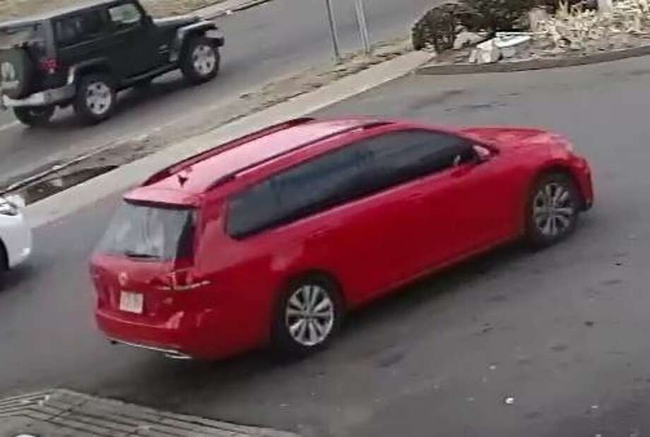 The suspect's red Volkswagen Golf. Photo taken around the time of the Feb. 9 shooting. Photo: / Stratford Police Department