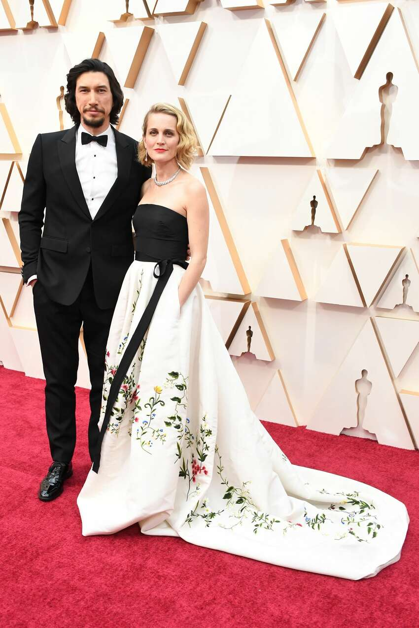 HOLLYWOOD, CALIFORNIA - FEBRUARY 09: (L-R) Adam Driver and Joanne Tucker attend the 92nd Annual Academy Awards at Hollywood and Highland on February 09, 2020 in Hollywood, California. (Photo by Steve Granitz/WireImage)