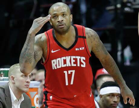 P.J. Tucker, after making a 3-pointer earlier this season, knows he will get open looks in Rockets' new offense.